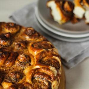 Пирог с корицей и кокосовым маслом